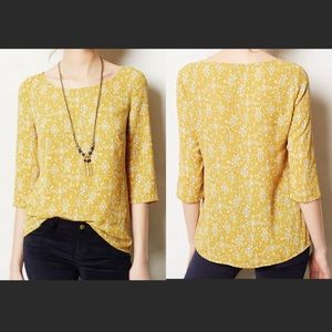 Anthropologie HD in Paris Eira Mustard Yellow Top